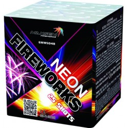 NEON FIREWORKS Неоновый фейерверк 25 выстрелов (GWM5048)