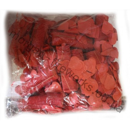 Конфети метафан сердца красные (бумага) 1 кг