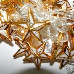 Гирлянда Белая Звезда Золото LED 20