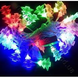 Гирлянда Ёлочки LED 40 мульти