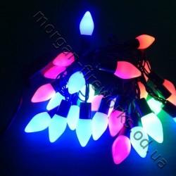Гирлянда Шишки LED 40 мульти