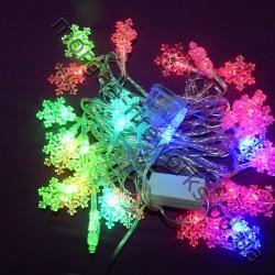 Гирлянда Снежинки LED 28 мульти