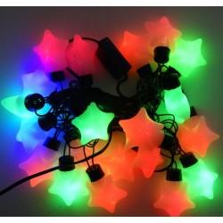 Гирлянда светодиодная Звёзды L20 мульти
