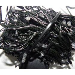 Гирлянда Нить LED 300 мульти, чёрный провод, конус-рис