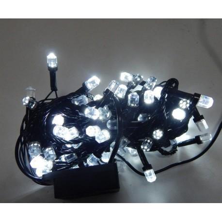 Гирлянда Нить LED 100, чёрный провод, белый, кристалл