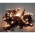 """Гирлянда """"Нить"""" уличная LED 100, теплый белый, чёрный провод"""