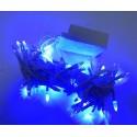 Гирлянда Нить LED 100, синий, белый провод, конус-рис
