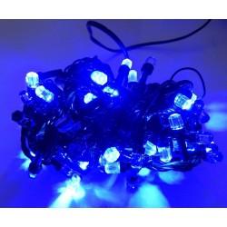 Гирлянда Нить LED 100, чёрный провод, синий, кристалл