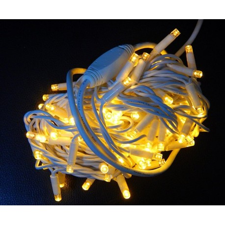 """Гирлянда """"Нить"""" уличная LED 100, теплый белый"""